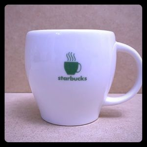 Starbucks Barista Abbey Green Stripe Steaming Cup
